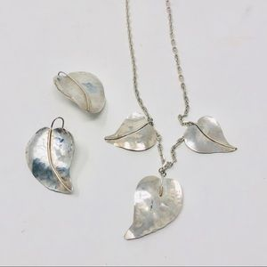 Jewelry - Sterling, artisan signed necklace/earrings set
